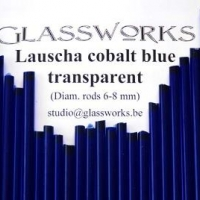 Lauscha Transparent Cobalt Blue (6-8mm)